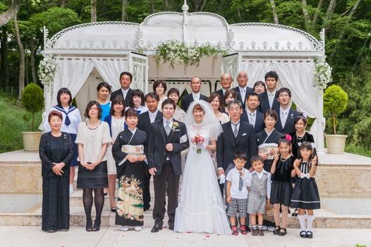 箱根 結婚式 家族写真 チャペル バンブー