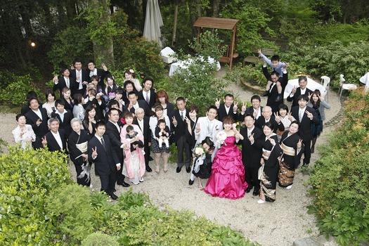 箱根 結婚式 家族写真 アルベルゴバンブー