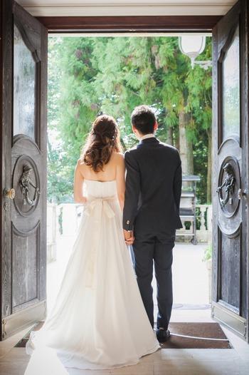 結婚式 フォトウェディング 緑 アルベルゴバンブー