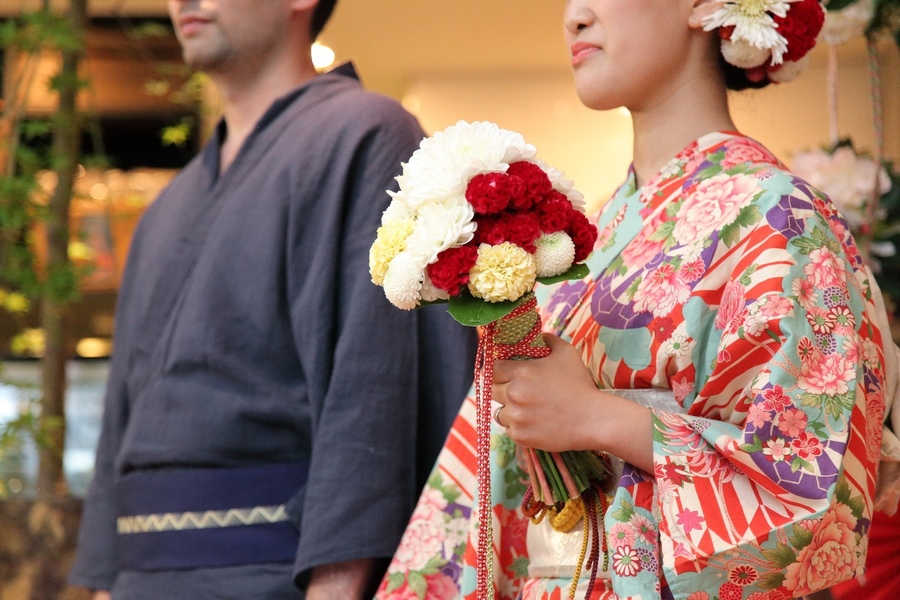 新郎新婦も浴衣に身を纏い、ゲストと夏祭りwedding!