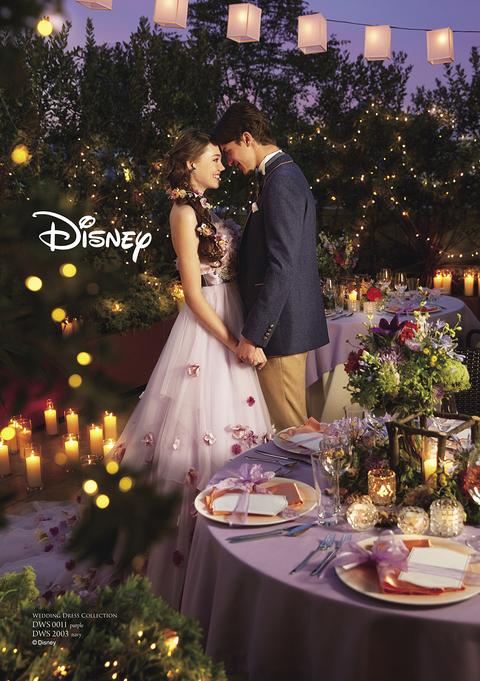 ラプンツェルを象徴するパープルをメインに、サブカラーでピンクを使用して、ラプンツェルっぽさを強調。(C)Disney