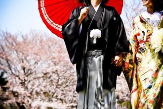 3月後半は桜をバックに前撮り☆
