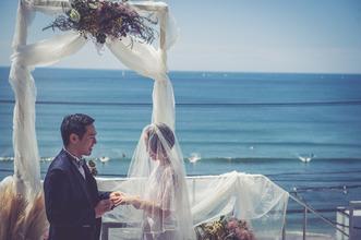 海を一望してのフォト婚、神社での和装フォト婚ができます!