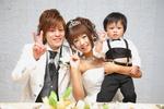 出産後にお子様と一緒に、結婚のご報告!演出にも大活躍☆彡