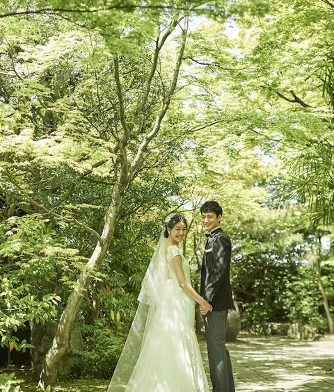 京都駅から10分とは思えない自然に溢れる庭園