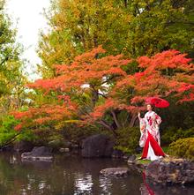 四季折々の庭園の風景はご親族へのおもてなしに