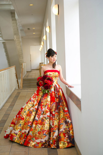 鮮やかな和ドレス!!