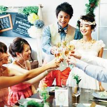 大阪なんば、堀江の会費制1.5次会ウエディング