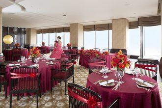 28階のお食事会場のサロンパノラマ