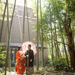 京都らしく和装でのウェディング