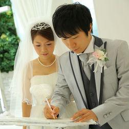 結婚証明書の署名♪