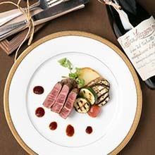熟成肉のステーキ こだわり肉を使用