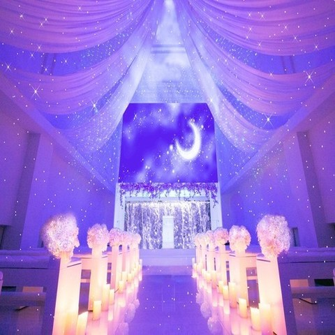 キラキラ星空チャペルでロマンチックな挙式