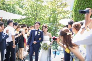 ガーデンでの結婚報告会