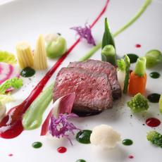 和牛ロース肉のグリエ プランタニエール