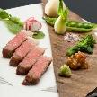 贅沢にも黒毛和牛フィレ肉を厚くぶつ切りにしたステーキを堪能!