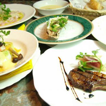 30年の経験から調理する、フルコースのお料理