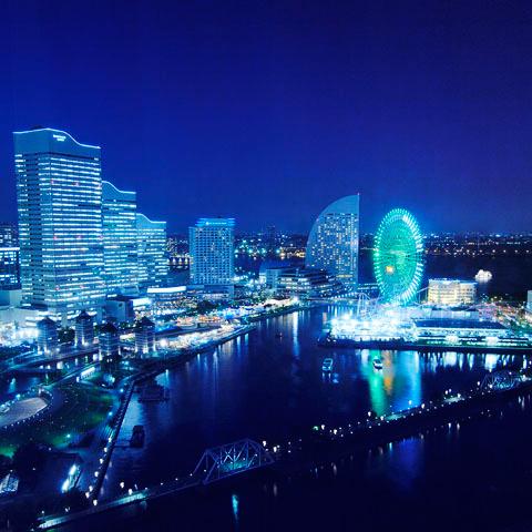 『横浜』といえばやっぱりこの夜景です。