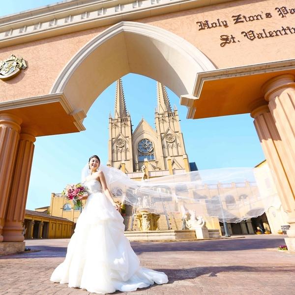 最高のロケーションと最高に素敵な花嫁を想い出撮影